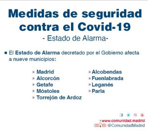 Estado alarma Madrid